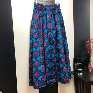 Plus Size Printed Skirt w/pockets
